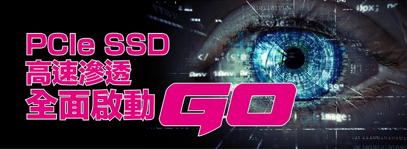 PCIe SSD 高速滲透 全面啟動GO